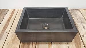 concrete vessel sink.  Concrete 17u0026quot X 12u0026quot Concrete Rectangle Vessel Sink And G