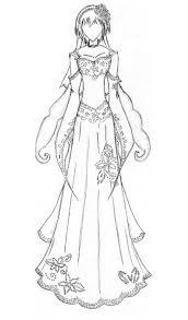 Anime Manga Clothes Wedding Dress Coloring