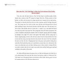 conventions of the gothic horror the tell tale heart by edgar  document image preview