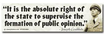 Image result for joseph goebbels control public opinion