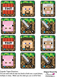 Minecraft Printables Cupcake Toppers Edible Printing Minecraft