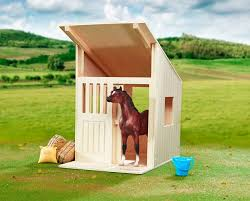 wood single stall model horse stable or barn fun for horse crazy kids