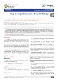 Injectable Drug Compatibility Chart Pdf Drug Incompatibilities In A Hospital Setting