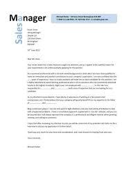 Cover Letter For Metropark Regional Sales Manager Cover Letter Free