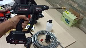 máy phun xịt rửa xe bằng pin 24V đa năng - tặng bình tạo bọt