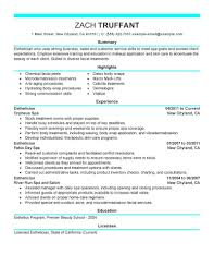 Skin Care Specialist Sample Resume Pin By Jobresume On Resume Career Termplate Free Pinterest Cover 23
