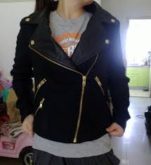 black leather jacket gold zippers cairoamani com
