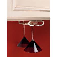 Wine Glass Hangers Under Cabinet Rev A Shelf 15 In H X 425 In W X 16 In D Satin Nickel Under