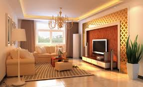 Interior design of TV wall with Chinese elements