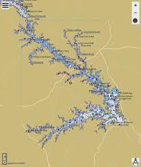 J Strom Thurmond Reservoir Clarks Hill Lake Fishing Map