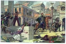 Захват Рима готами История Древнего мира Реферат доклад  Взятие Рима Аларихом Современный рисунок