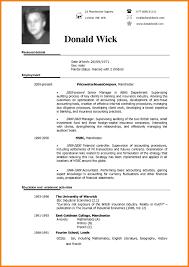 English Curriculum Vitae Curriculum Vitae English Example 8 English Cv Examples Reporter