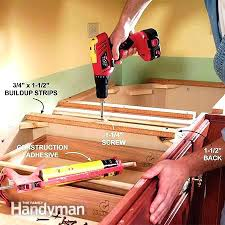 how to attach laminate countertop base cabinets complete original 3