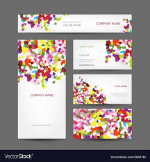 Abstract Design Company Set Of Abstract Creative Business Cards Design