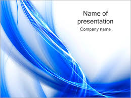 wave powerpoint templates blue abstract waves powerpoint template backgrounds id