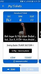 Bob Seger Tickets Grand Rapids Mi Vanadel 400 00 Picclick