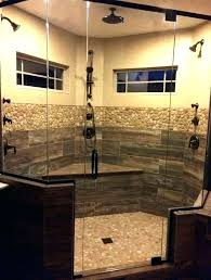 faux wood tile countertop shower top pertaining to woo