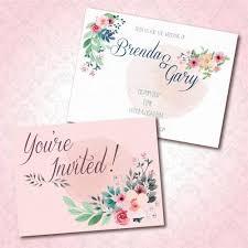 Spring Floral Watercolour Wedding Invitation Card Wedding Karren
