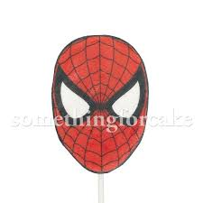 Spiderman Wafer Paperfondant Cake Topper Somethingforcake