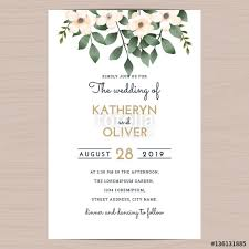 Wedding Invitation Card Template Save The Date Wedding Invitation Card Template With Flower Floral
