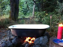 how to make a heated outdoor bath designs
