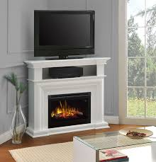 colleen wall or corner electric fireplace a console in white dfp25l5 1537w
