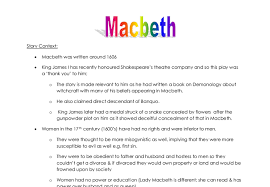 macbeth summary historical context and the main female roles  document image preview