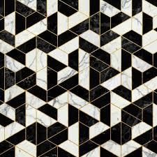 black and white tile floor. Simple Tile Black And White Marble Hexagonal Pattern Art Print By Santo Sagese For Tile  Floor Designs 7 On O