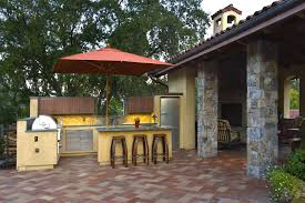 stone patio bar. Superb Brinkmann Smoke N Grill In Patio Mediterranean With Stone Bar Next To Smith And Hawken Furniture Alongside Barbecue Shelter Cheap Flooring