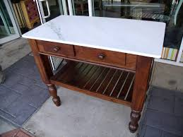 Marble Top Kitchen Work Table Kitchen Island Marble Top For The Most Noble And Glamorous Look Of