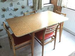 Small Picture Vintage Kitchen Table with 4 Chairs Formica table top orange