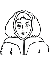 Small Picture Inuit Girl coloring page Free Printable Coloring Pages