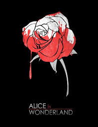 alice in wonderland by squall234 painting the roses redminimalist