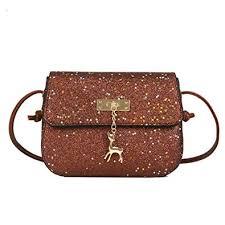 Lenfesh <b>Women</b> Messenger <b>Bags</b>, Fashion <b>Girls Leather</b> Sequins ...