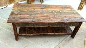 rustic barnwood coffee table custom reclaimed barn wood by pine stock raised in sets