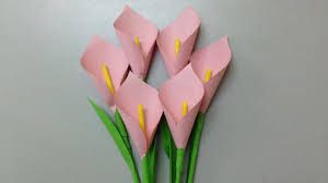 how to make calla lily paper flower easy origami flowers for beginners making diy paper crafts you