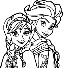 Small Picture Elsa Anna Coloring Page Wecoloringpage