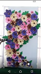 Paper Flower Frame Card Sheet All Colors Paper Flowers Backdrop Pack Size 8 4 Feet