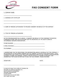 South Dakota Auto Dealers Association - Fax Consent Form