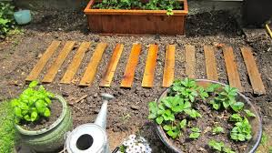 view in gallery easy garden path with pallet wood