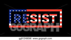 american flag word art vector art resist word slogan american flag theme illustration
