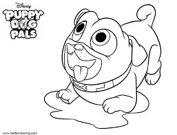 Puppy Dog Pals Coloring Pages Wait For Food Free Printable