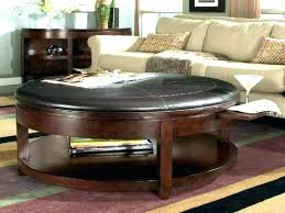 ottoman coffee table with storage round coffee table with storage round storage ottoman coffee table marvelous