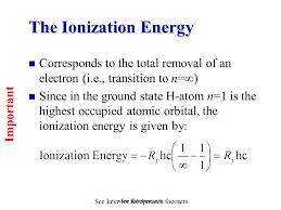 The Ionization Energy - SliderBase