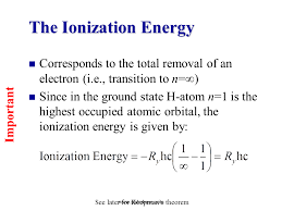 the ionization energy