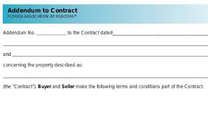Sample Contract Addendum Forms 8 Free Documents In Word Pdf