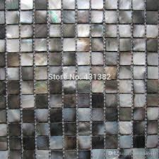 natural black mother of pearl mosaic tiles kitchen backsplash tiles bathroom mosaic tile 20x20mm shower panel canada 2018 from a408886441