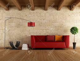 Old Sofa Modern Red Sofa In A Old Room Rendering Stock Photo Picture And