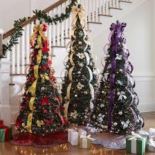 fake pre-decorated fake Christmas tree ideas