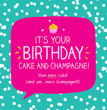 Birthday Cake Champagne Happy Jackson Cards Galore